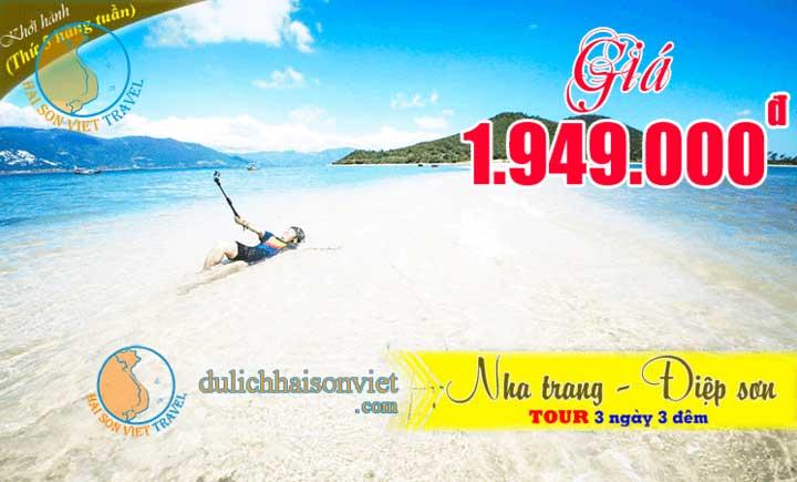 Tour Đảo Điệp Sơn - Nha Trang - Tiệc hải sản 3 ngày 3 đêm