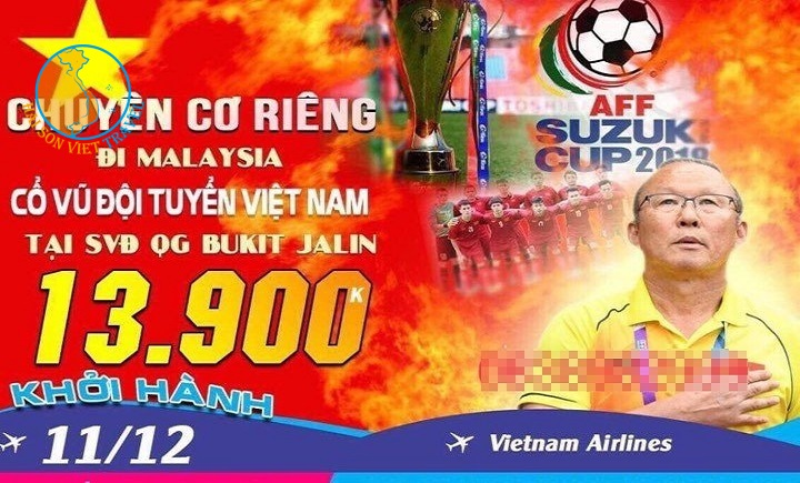 Tour Sang Malaysia cổ vũ Đội Tuyển Việt Nam Đá Chung Kết AFF Cup 2018