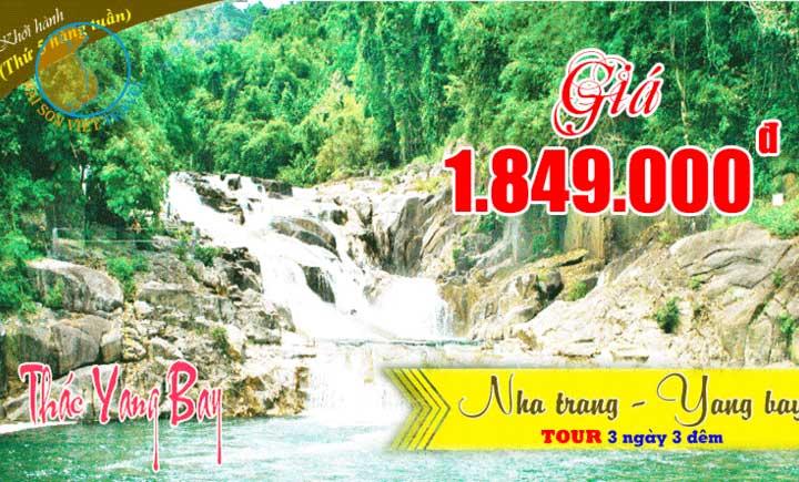 Tour Nha Trang - Thác Yangbay - Tiêc hải sản 3 ngày 3 đêm