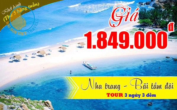 Tour Nha Trang Bãi Tắm Đôi 3 ngày 3 đêm giá rẻ